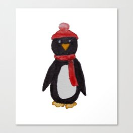 Warm Little Penguin Canvas Print