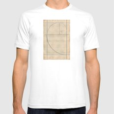 Golden Folding Mens Fitted Tee White SMALL