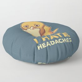 I Hate Headaches // Psyduck Migraines Floor Pillow