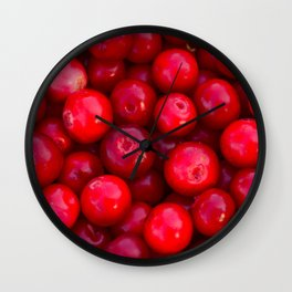 Lingonberry berry fresh forest fruits Wall Clock