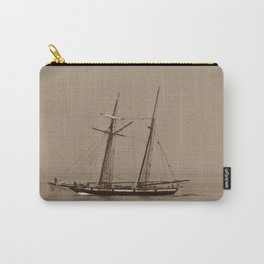 Wooden Tall ship sepia finish Carry-All Pouch