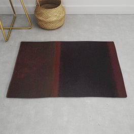 1960 Black on Dark Sienna On Purple by Mark Rothko HD Rug