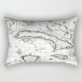 The island of Cuba - 1762 Rectangular Pillow