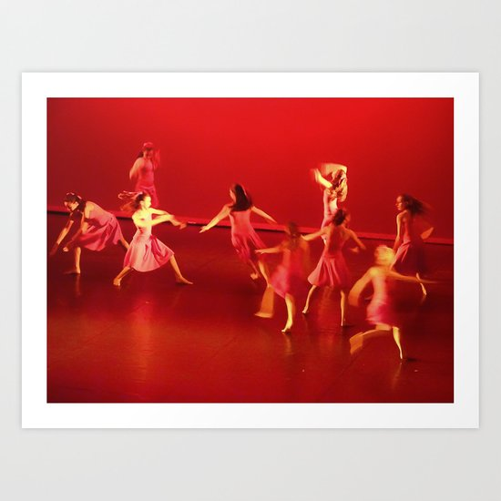Dance RED Art Print
