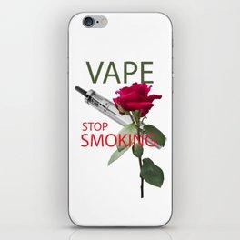 Be vaper, stop smoking iPhone Skin