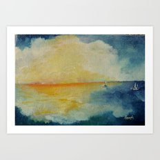 Distant Oceans Art Print