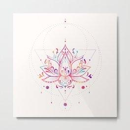 Lotus Prism Metal Print