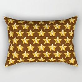 Gold Stars on Brown Background Rectangular Pillow