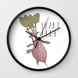 Heart Beet Wall Clock