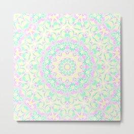 Pastel Mandala 3 Metal Print