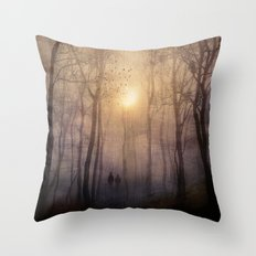 Eternal walk by Viviana Gonzalez Throw Pillow
