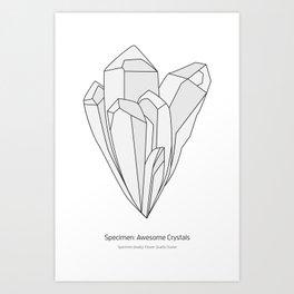 Crystal: Quartz Art Print