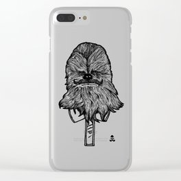 Mustache Wookiee Clear iPhone Case