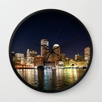 boston Wall Clocks featuring Boston by Bust it Away Photography