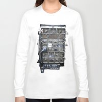 military Long Sleeve T-shirts featuring Vintage Military Radio  by TomConwayArt