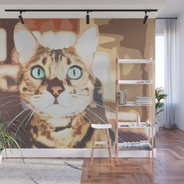Tabby Brown And Orange Cat Wall Mural