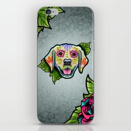 Golden Retriever - Day of the Dead Sugar Skull Dog iPhone Skin