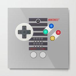 Classic Game Controller Metal Print
