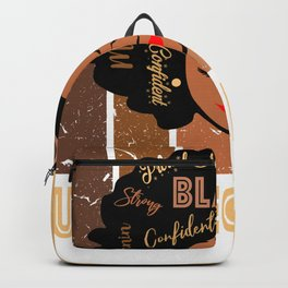 Black Unit Secretary Strong Afro African American Women Backpack