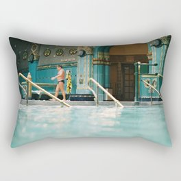 Budapest Gellert Baths & Spa with a View from the Pool Rectangular Pillow