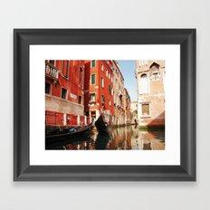 Venice, Italy. Gondola. Framed Art Print