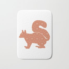 SQUIRREL SILHOUETTE WITH PATTERN Bath Mat
