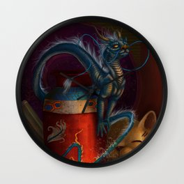 Ceramic Dragon  Wall Clock