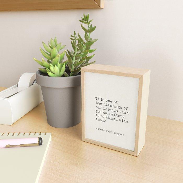 Emerson, Ralph Waldo quote awesome Framed Mini Art Print