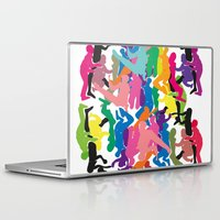 it crowd Laptop & iPad Skins featuring Crowd by Emmanuelle Ly