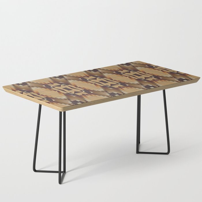 Khaki Tan Orange Dark Brown Mosaic Pattern Coffee Table By Diversestuff
