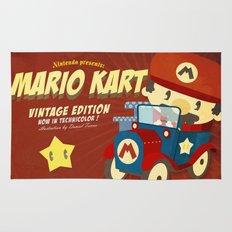 mario kart vintage Rug