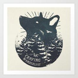 Craving wanderlust Art Print