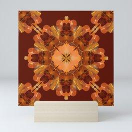 Second Chakra Tiger's Eye Mandala Mini Art Print