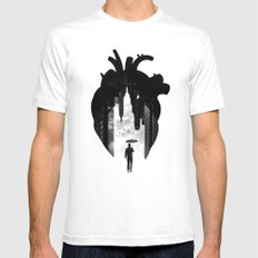 In the Heart of the City White Mens Fitted Tee SMALL