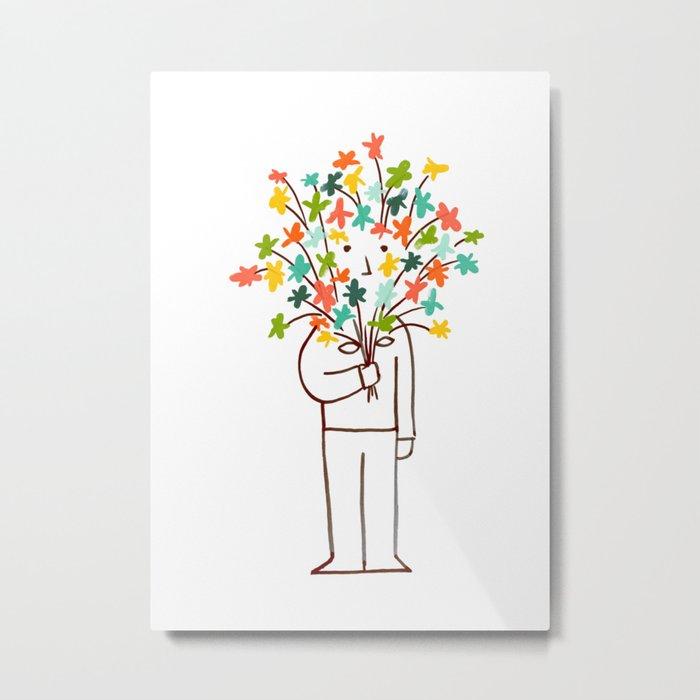 I bring flowers Metal Print