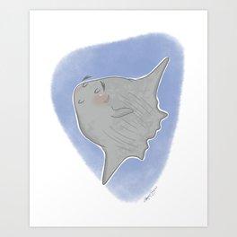 Curiosities of the Sea: Sunfish Art Print