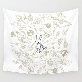 minima - beta bunny / gear Wall Tapestry
