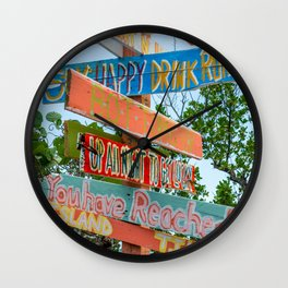 Island Directions Wall Clock