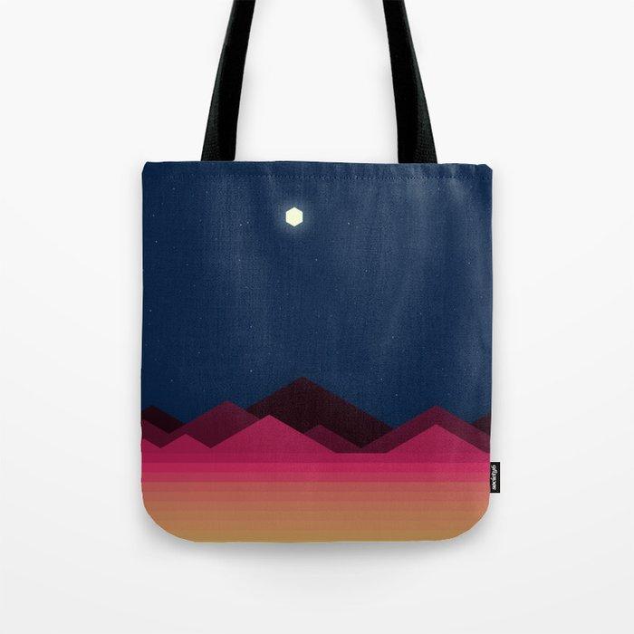 Desert Night (Voxel) Tote Bag