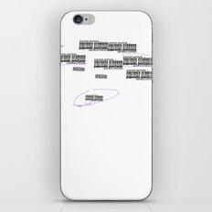 Twomblish wall of words iPhone & iPod Skin