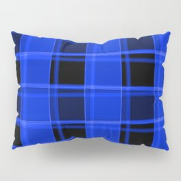 Bright intersections of light and nautical lines on a dark background. Pillow Sham