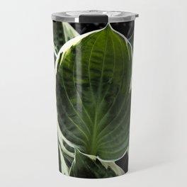 Hosta Leaf With Water Drop Travel Mug
