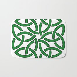 Shamrock Celtic Art Knotwork Design Bath Mat
