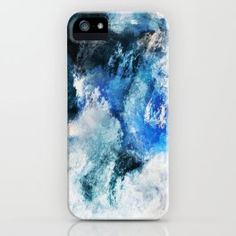 Waves Abstract Painting - Minimalist Seascape Painting iPhone Case