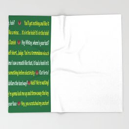 Caddyshack Quotes Throw Blanket