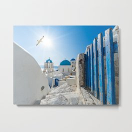 Oia Santorini Greece Metal Print