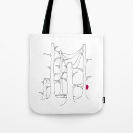 Telegraph pole forest. Tote Bag
