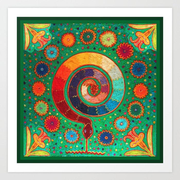 Peyote Serpent Ritual Kunstdrucke