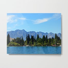 The Remarkables and Queenstown (New Zealand Collection) Metal Print