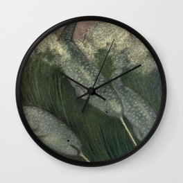 Vintage Narwhal Painting (1909) Wall Clock